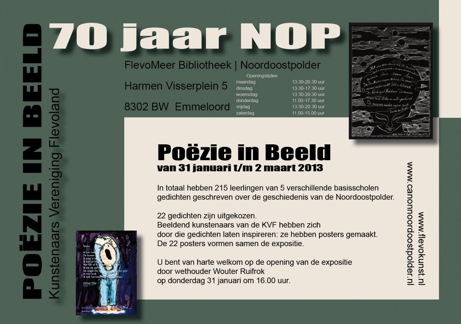 2013 Poëzie In Beeld 70 Jaar Nop Kunstenaars Vereniging